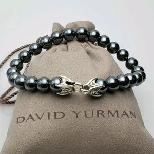 David Yurman Hematite Spiritual Bead Bracelet